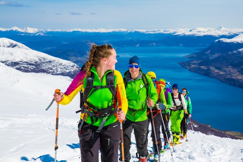 Elever på idrettsfag ved Tingvoll vgs